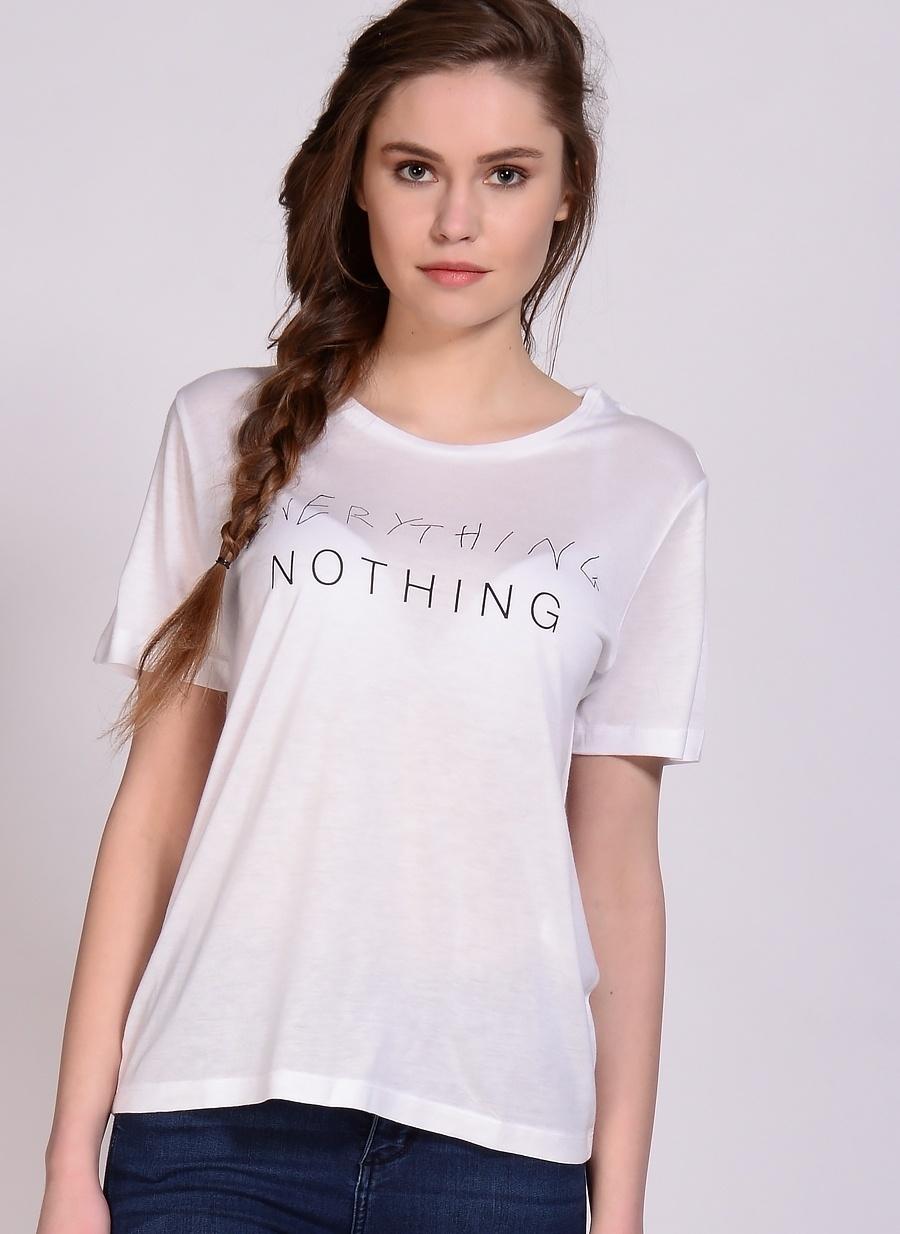 S Beyaz Adpt T-Shirt Kadın Giyim T-shirt Atlet