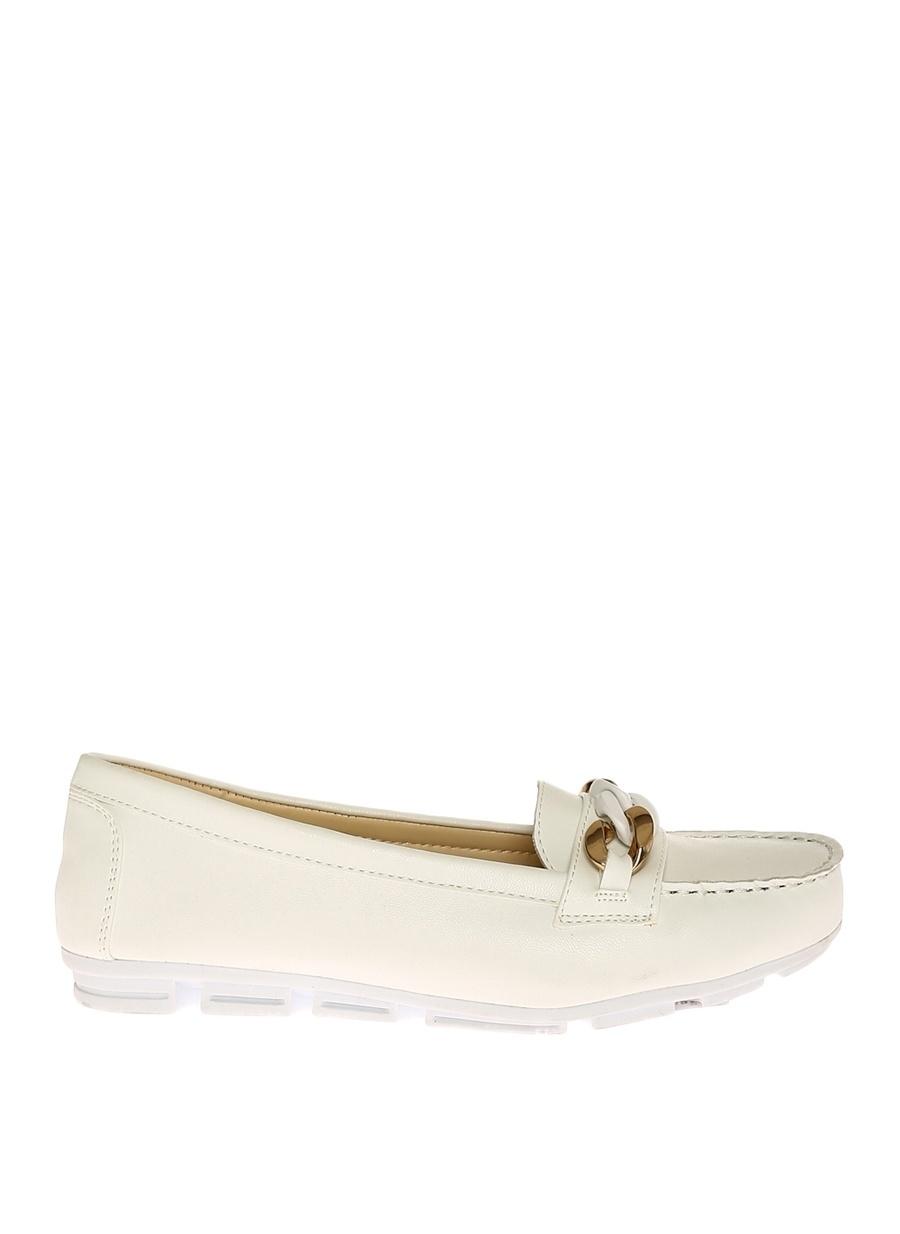 37 Beyaz Bambi Ayakkabı Babet Çanta Kadın