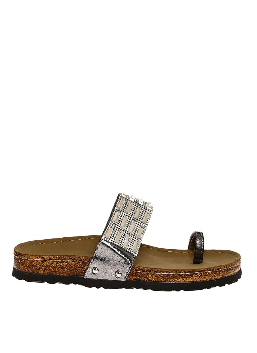 38 Lame Bambi Ayakkabı Terlik Çanta Kadın Sandalet