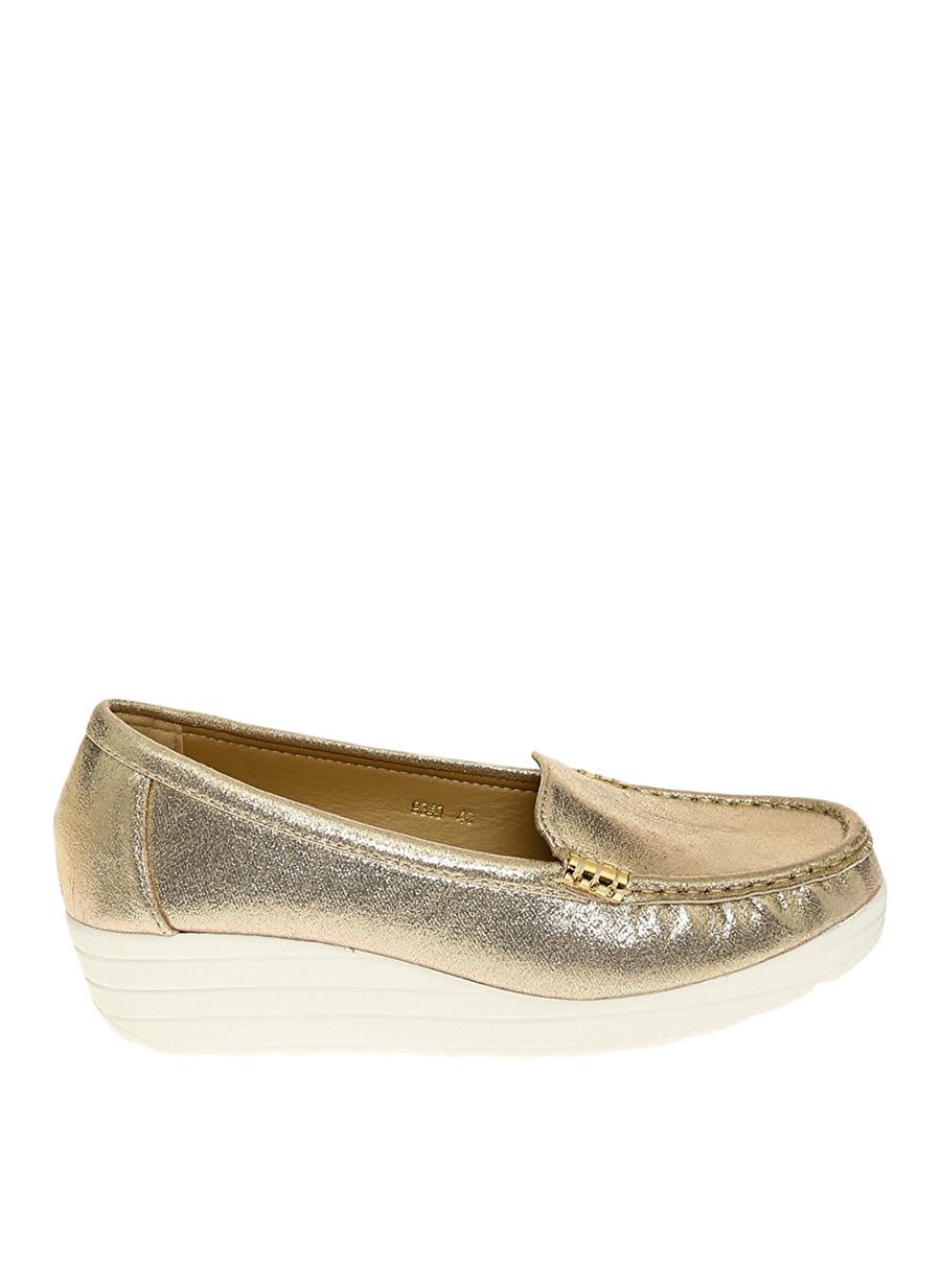 37 Dore Bambi Ayakkabı Gold Babet Çanta Kadın