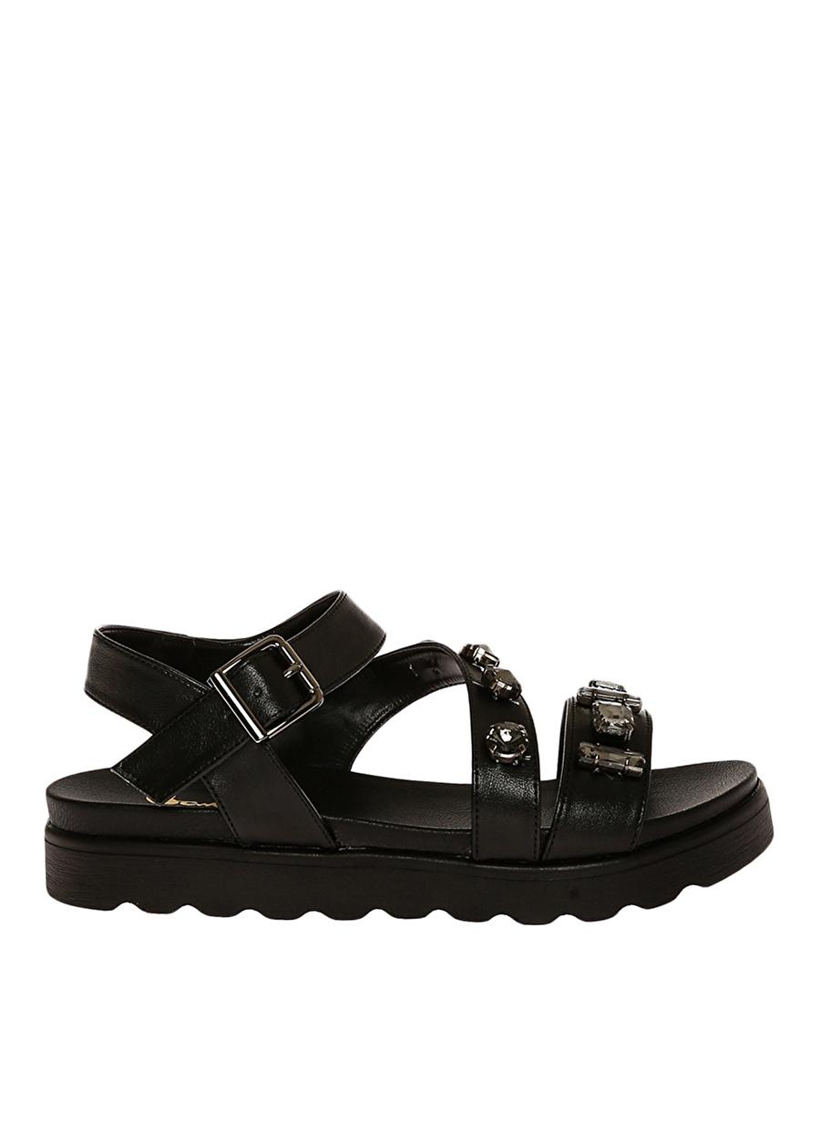 36 Siyah Bambi Ayakkabı Sandalet Çanta Kadın Terlik
