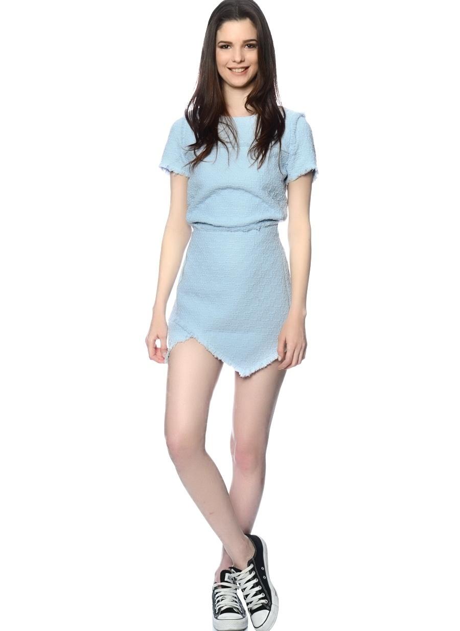S Açık Mavi J.O.A. Etek Kadın Giyim