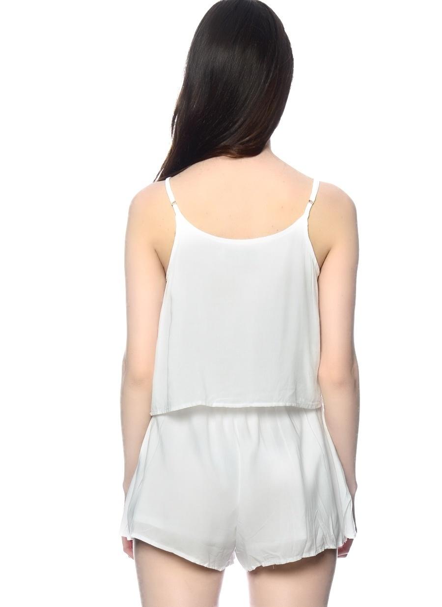S Beyaz Lovecat Tulum Kadın Giyim