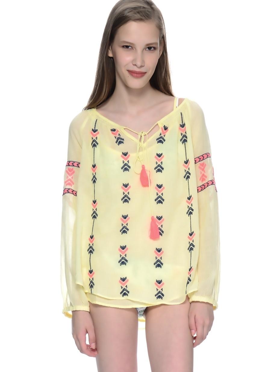 1 Sarı Freeminds Bluz Kadın Giyim Gömlek