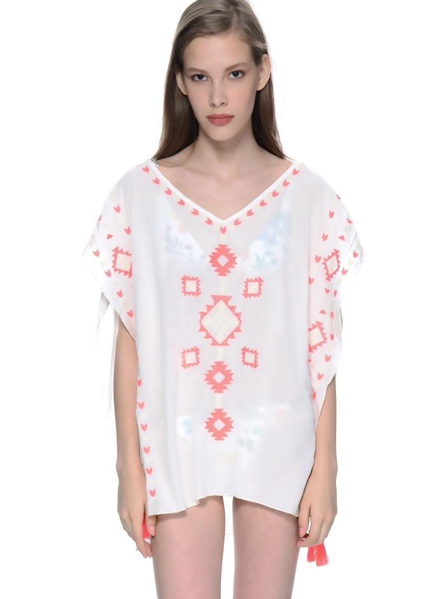 Standart Koyu Natürel Freeminds Bluz Kadın Giyim Gömlek