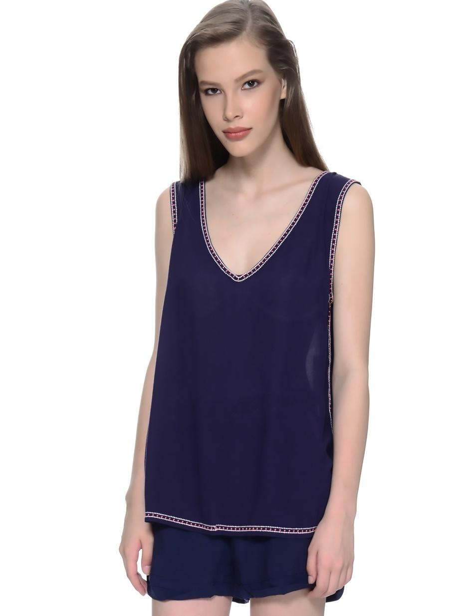 2 Koyu Lacivert Freeminds Bluz Kadın Giyim Gömlek