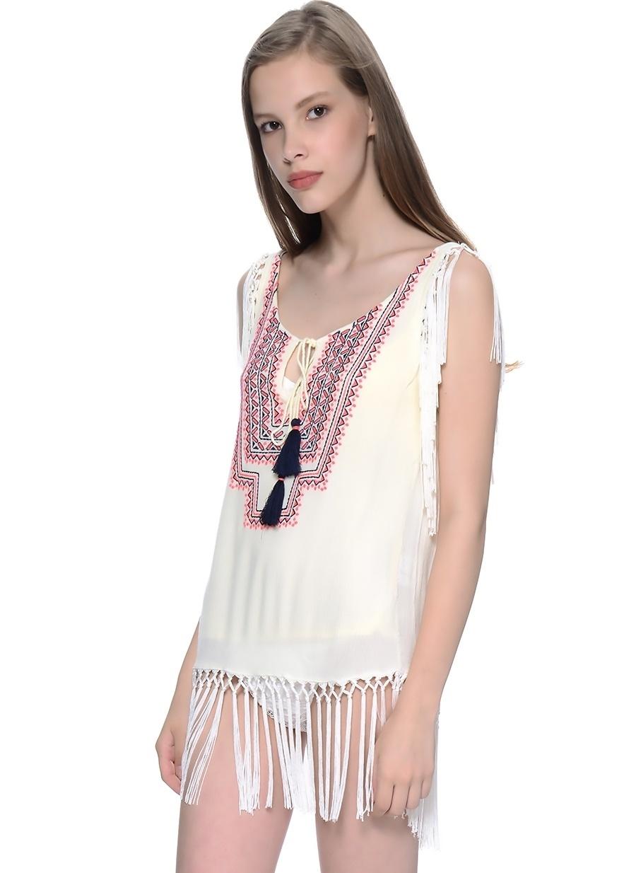 3 Koyu Natürel Freeminds Bluz Kadın Giyim Gömlek