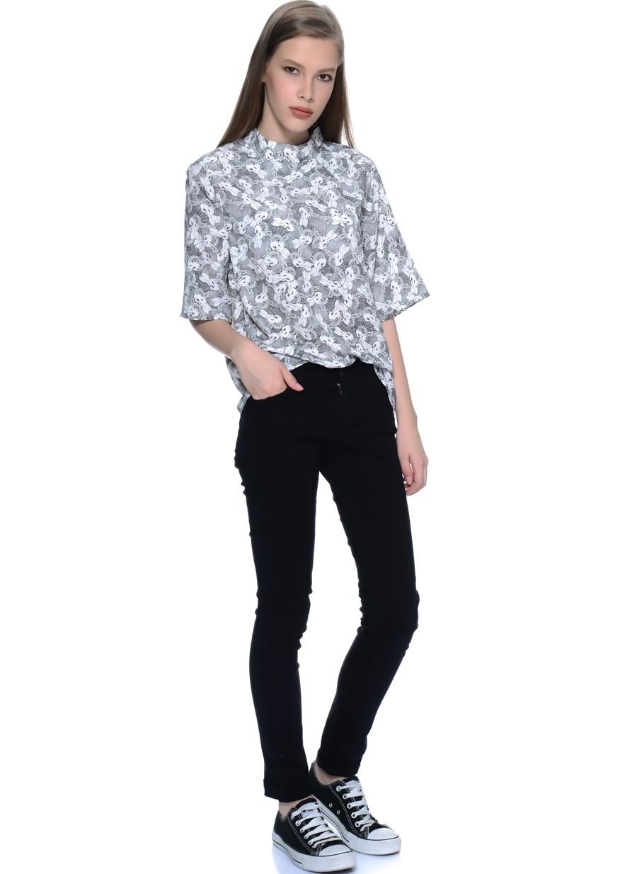36-32 Siyah Compania Fantastica Denim Pantolon Kadın Giyim Jean