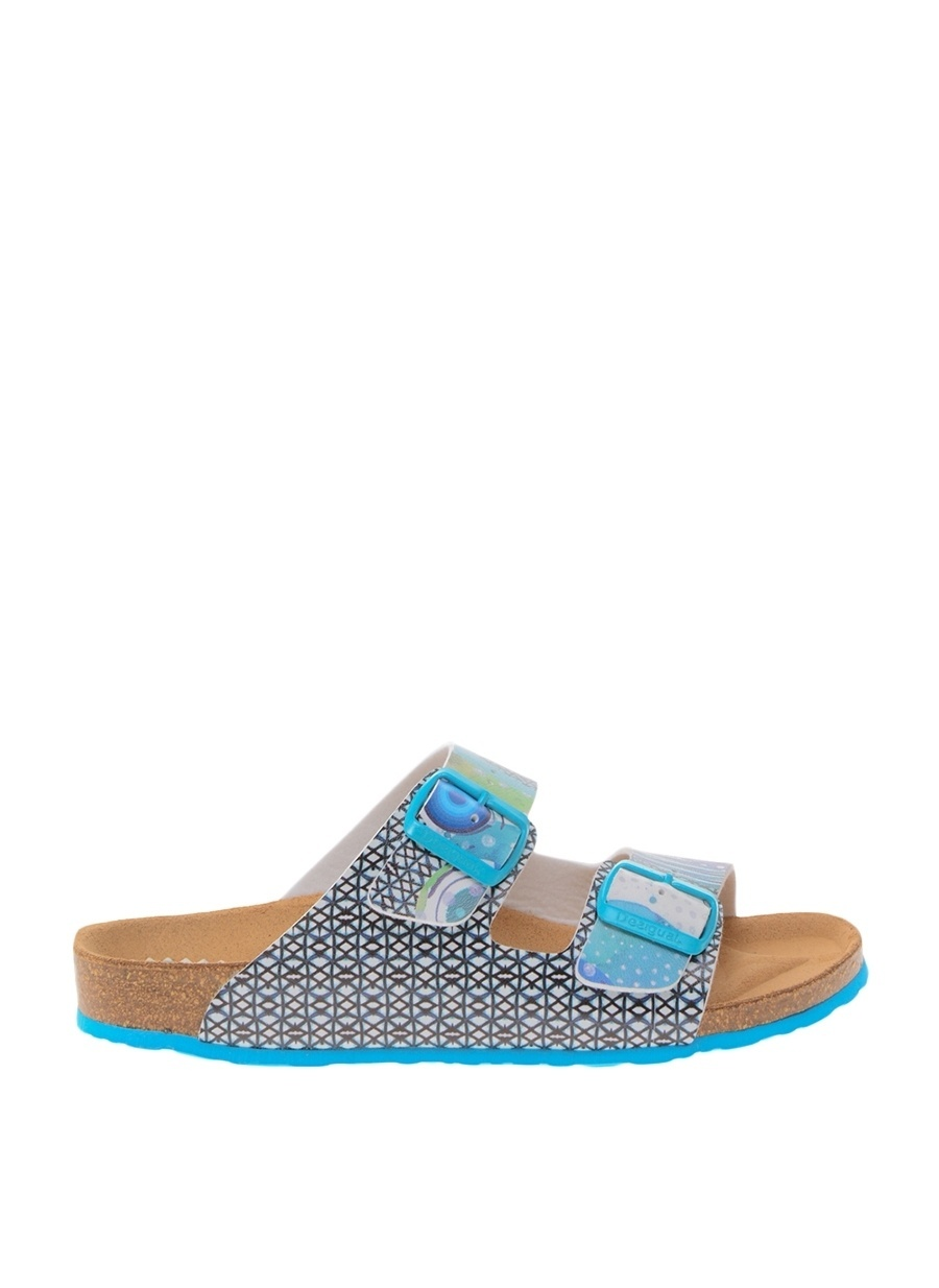 37 Koyu Turkuaz Desigual Terlik Ayakkabı Çanta Kadın Sandalet