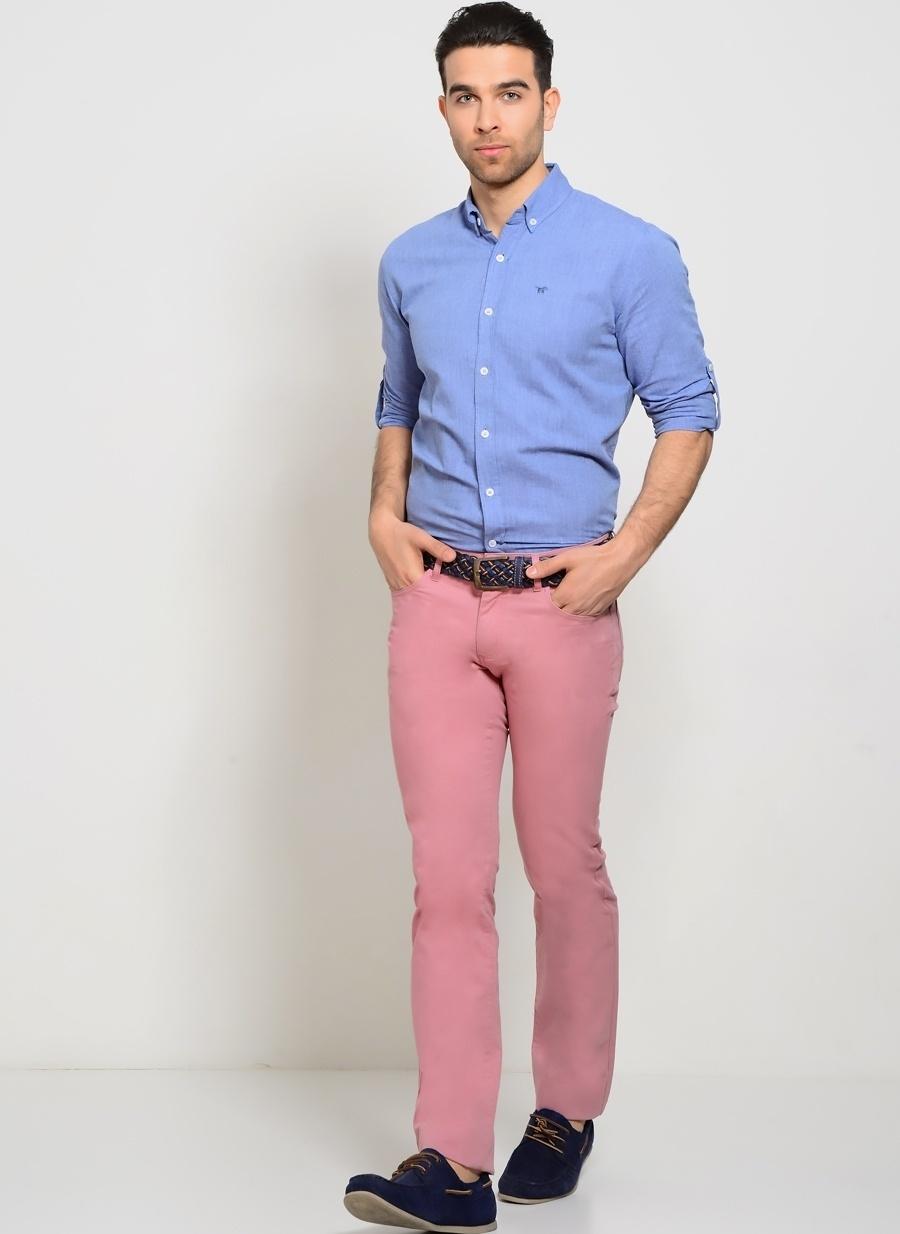 54 Koyu Pembe Altınyıldız Classic Altinyildiz Klasik Pantolon Erkek Giyim