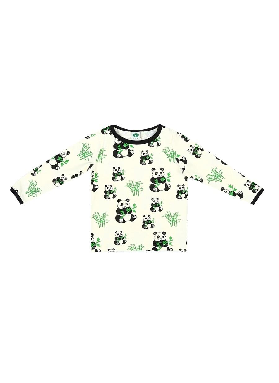56 cm Erkek Krem Smafolk T-Shirt Çocuk Bebek Giyim