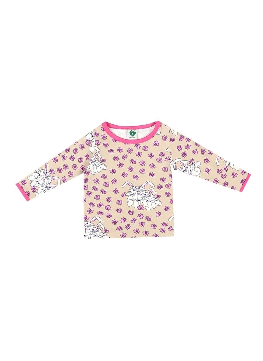 74 cm Kadın Kum Melanj Smafolk T-Shirt Çocuk Bebek Giyim