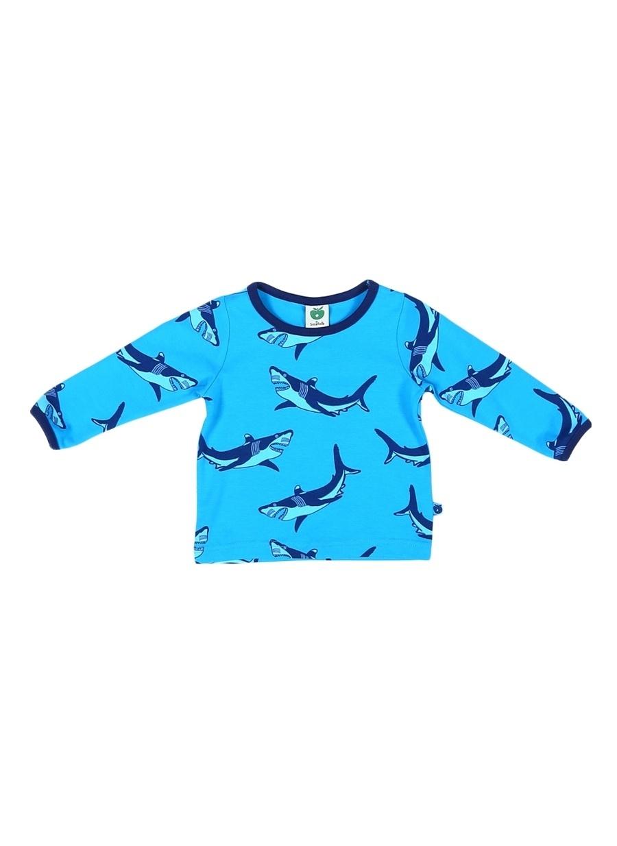 74 cm Erkek Koyu Turkuaz Smafolk T-Shirt Çocuk Bebek Giyim