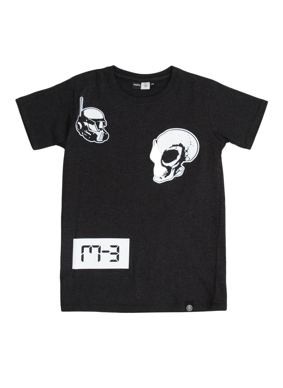 128 cm Erkek Antrasit Molo T-Shirt Çocuk Giyim T-shirt