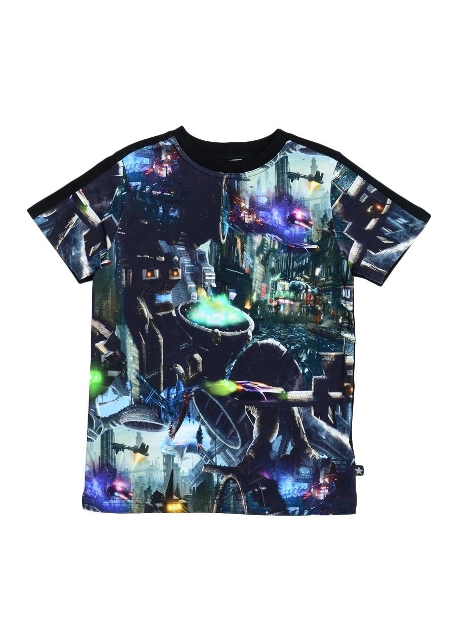 140 cm Erkek Siyah Molo T-Shirt Çocuk Giyim T-shirt