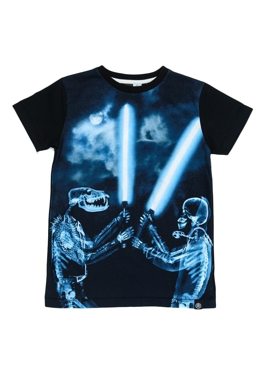 122 cm Erkek Siyah Molo T-Shirt Çocuk Giyim T-shirt