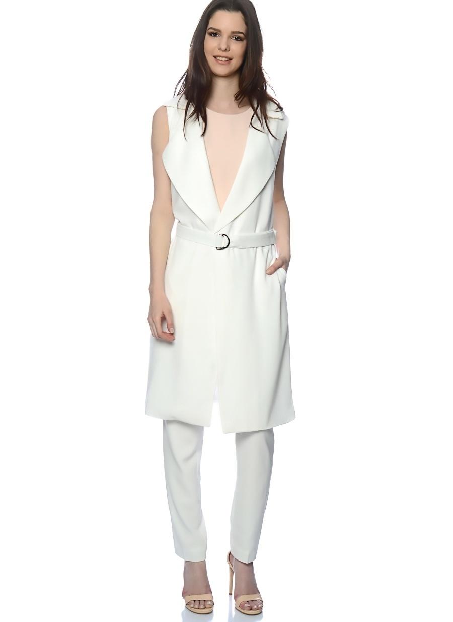 42 Beyaz Unique 21 Pardösü Kadın Dış Giyim Trençkot