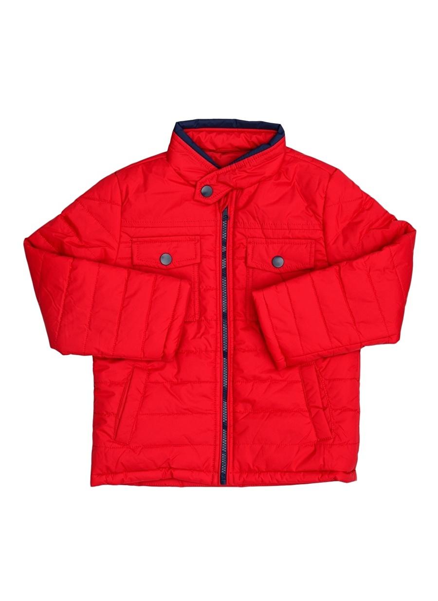 5 Yaş Erkek Kırmızı Limon Şişme Mont Çocuk Dış Giyim