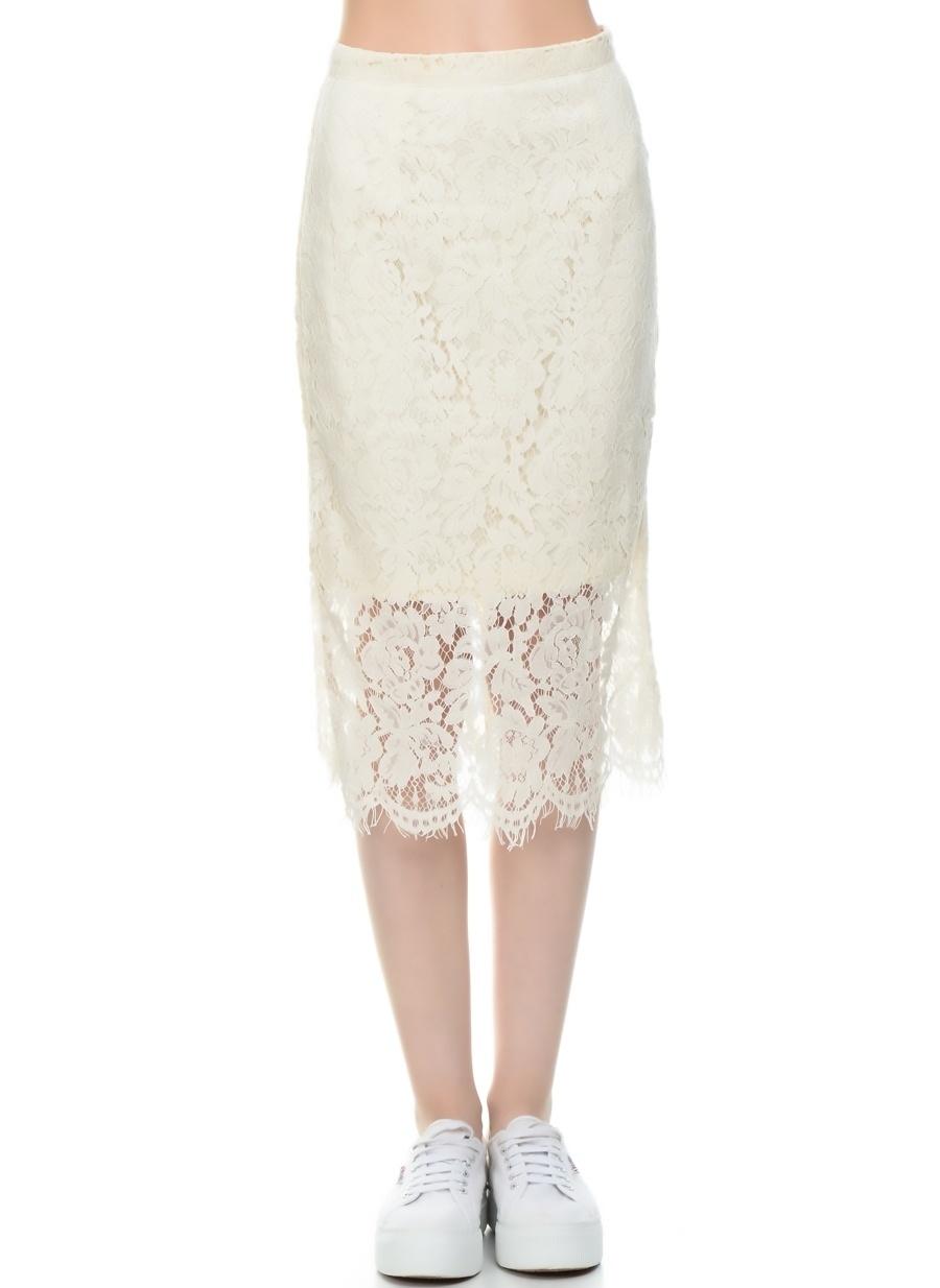 S Krem Danity Dantel Detaylı Elbise Kadın Giyim