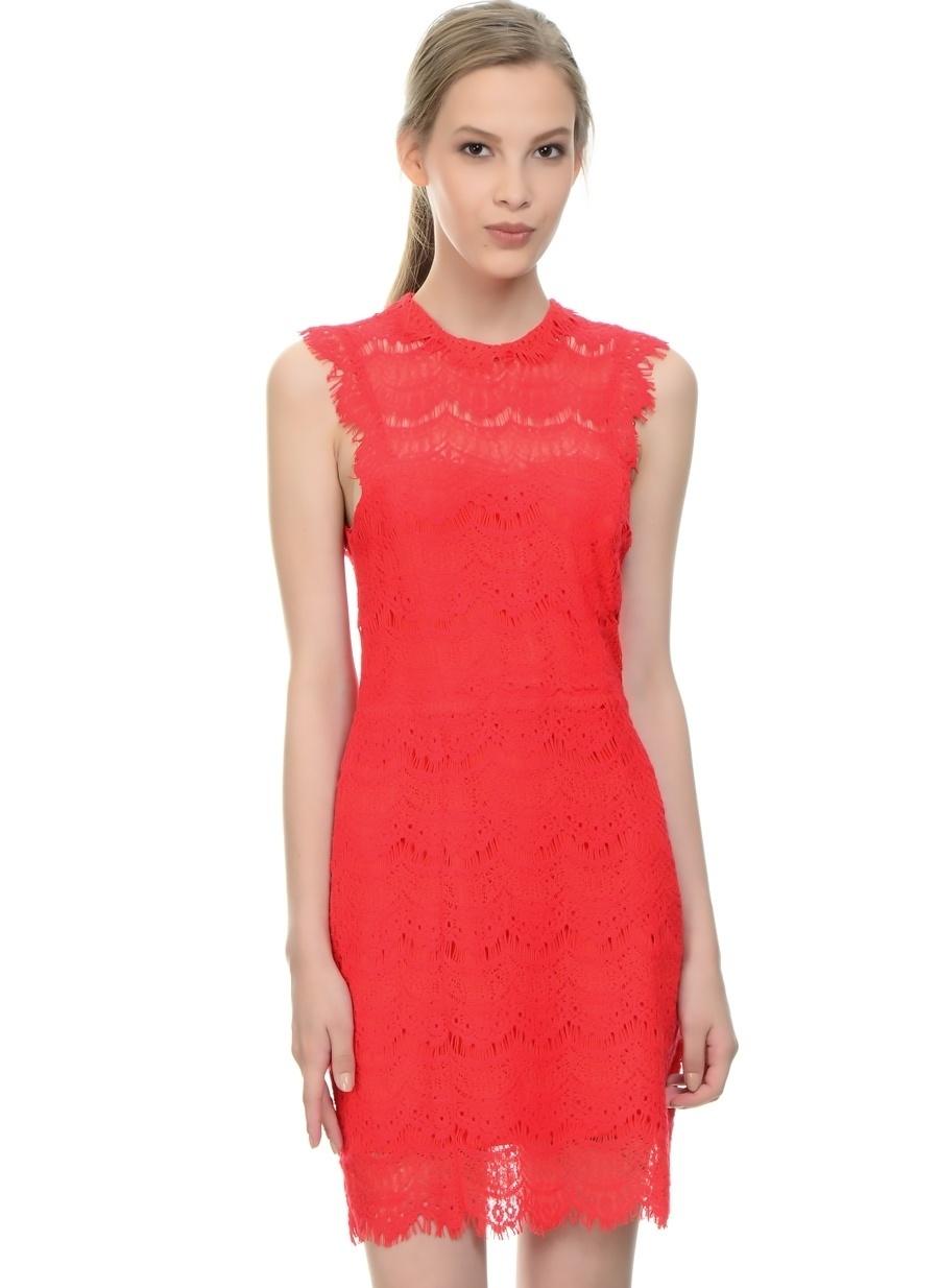 L Kırmızı Danity Elbise Kadın Giyim