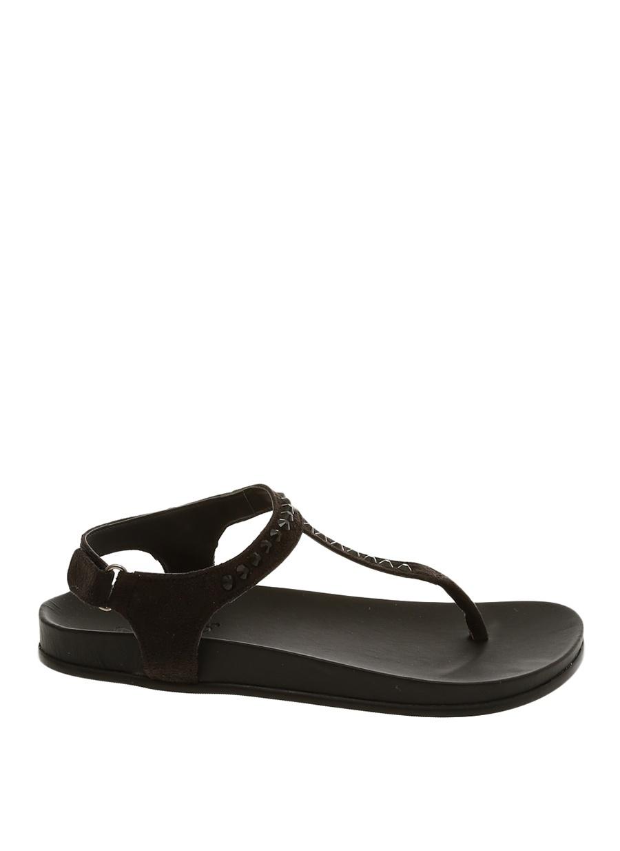 36 Siyah Inuovo Parmak Arası Sandalet Kadın Terlik