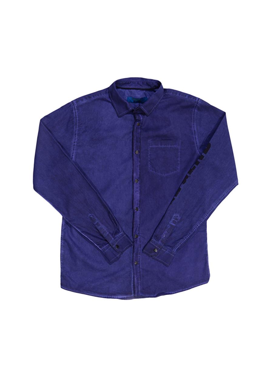 14 Yaş Erkek Mavi Funky Rocks Gömlek Çocuk Giyim