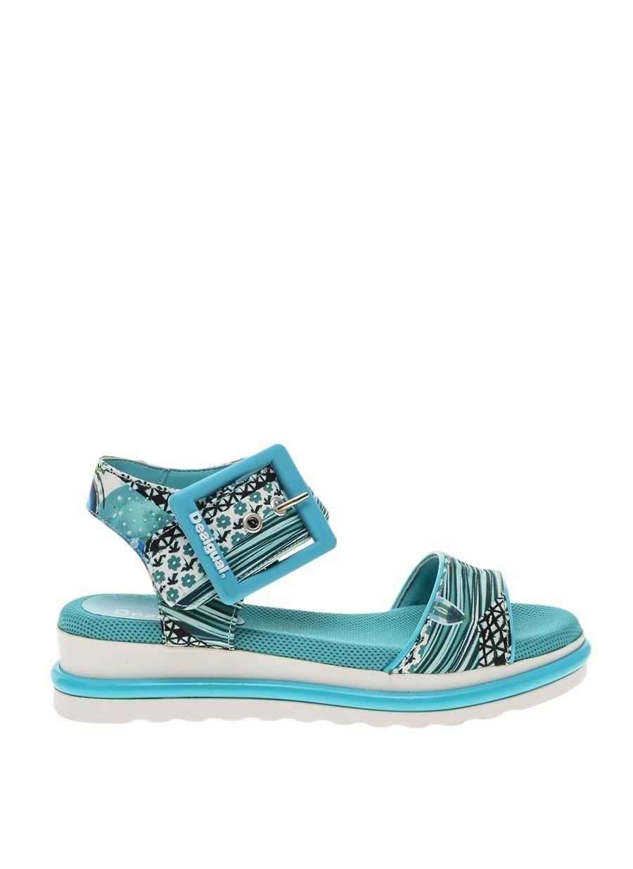40 Koyu Turkuaz Desigual Sandalet Ayakkabı Çanta Kadın Terlik