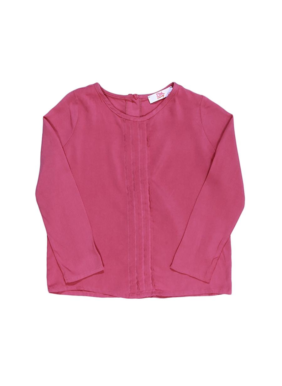 6 Yaş Kadın Gül Kurusu Pinkamp;Orange Pink&Orange Çocuk Pembe Bluz Giyim