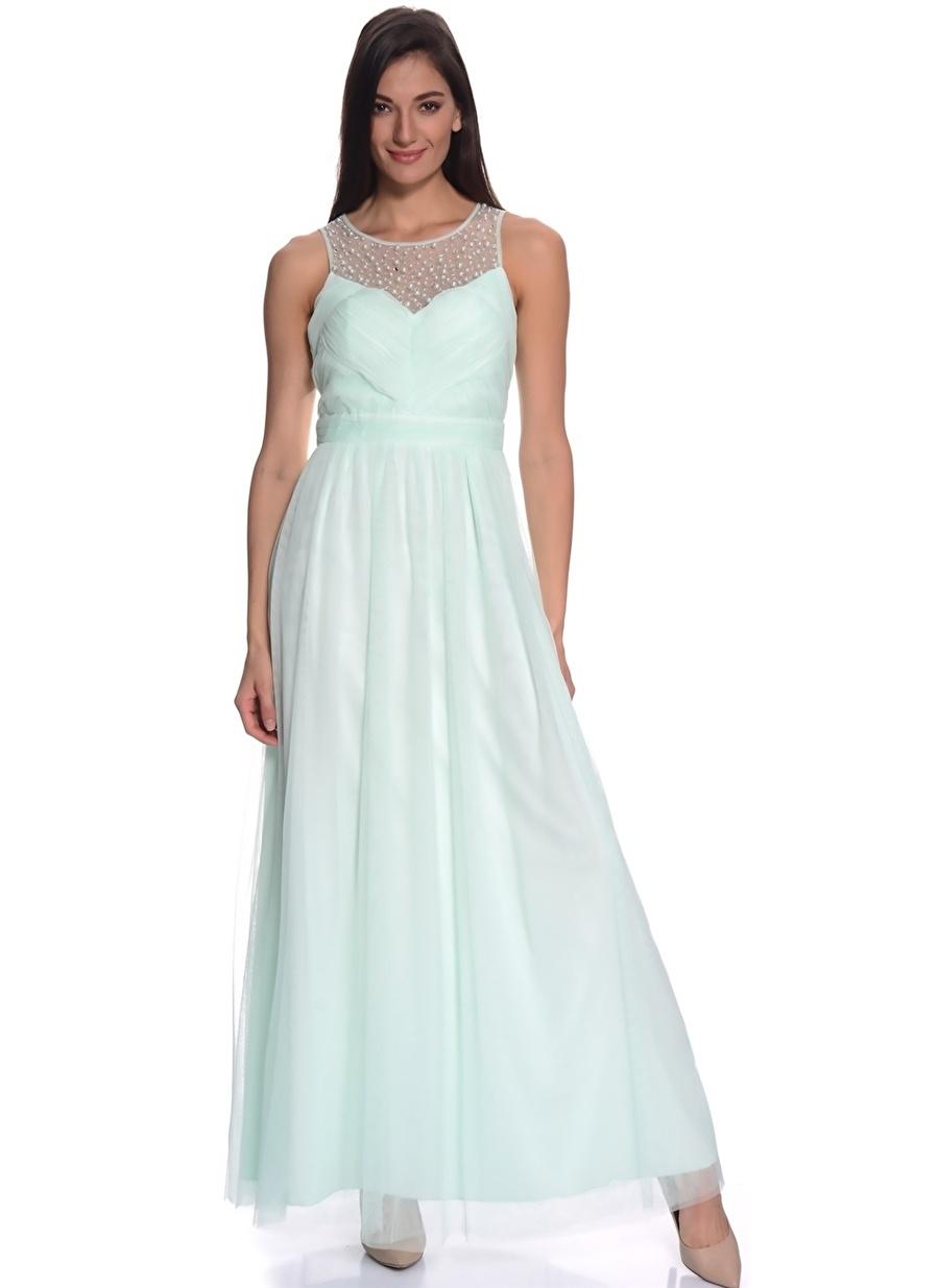 38 Yeşil Little Mistress Elbise Kadın Giyim