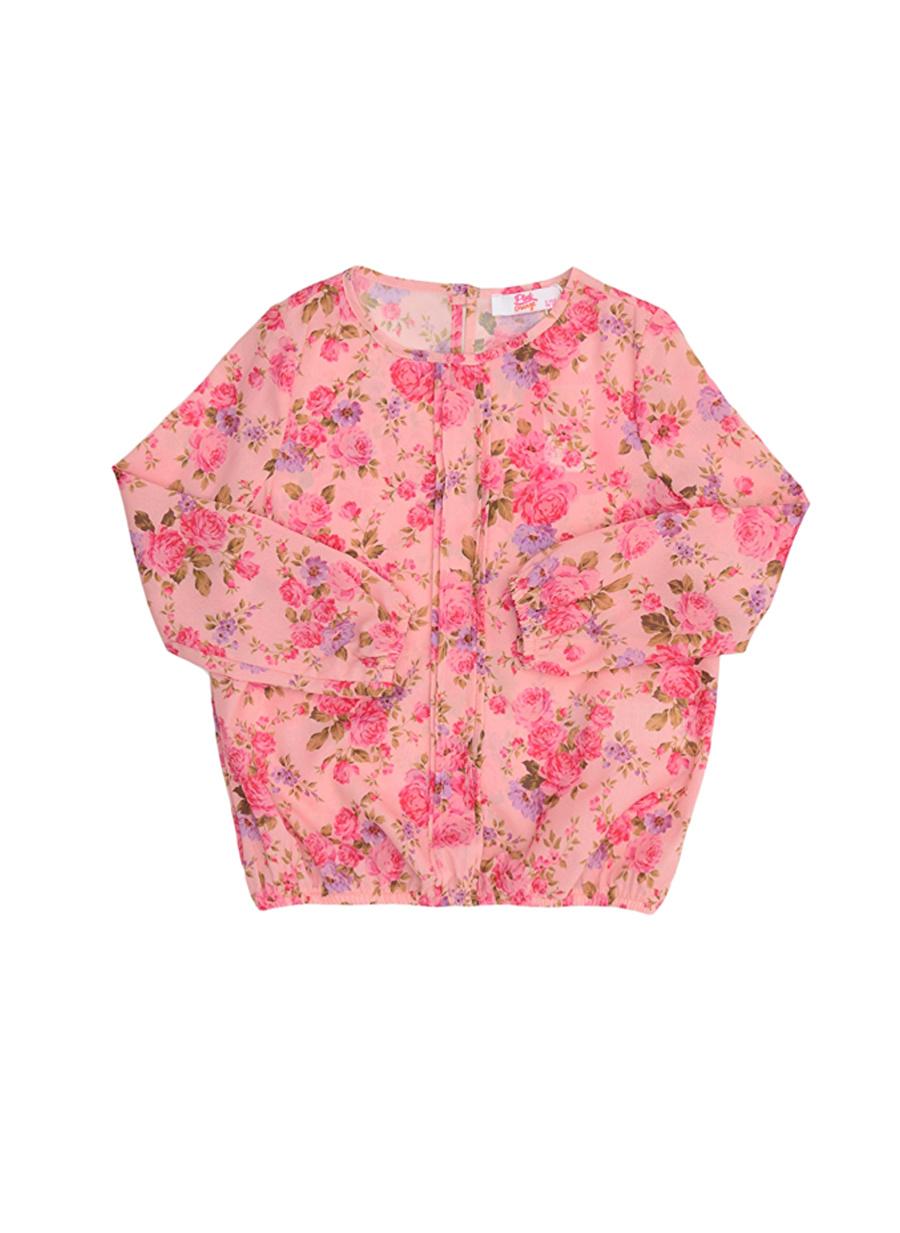 6 Yaş Kadın Pembe Pinkamp;Orange Pink&Orange Çocuk Desenli Bluz Giyim