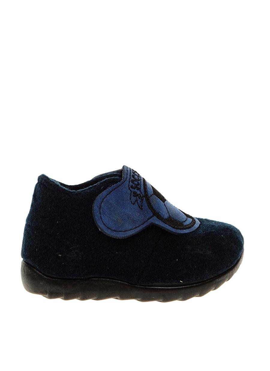 26 Erkek Koyu Lacivert Funky Rocks Ev Ayakkabısı Çocuk İç Giyim Panduf Terliği