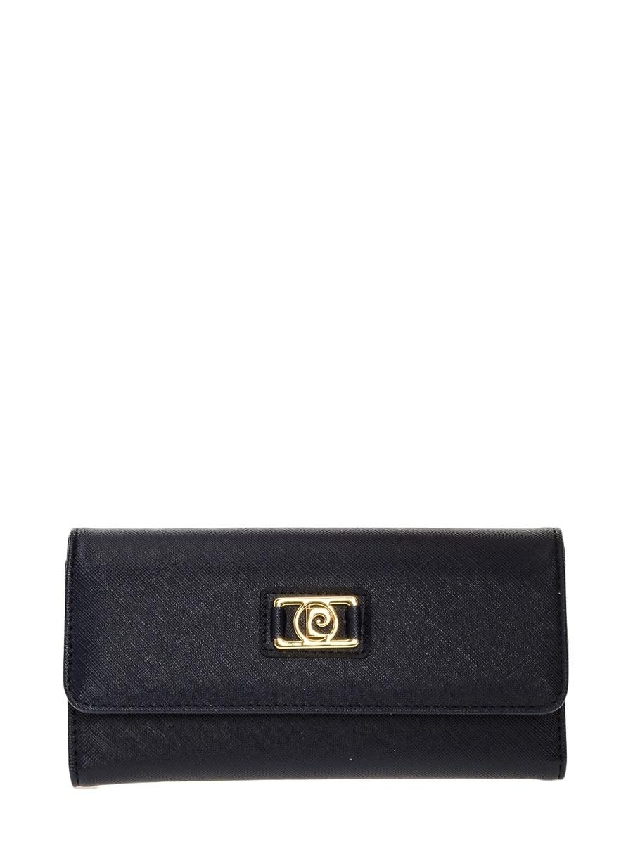 Standart Koyu Lacivert Pierre Cardin Portföy Ayakkabı Çanta Kadın Clutch