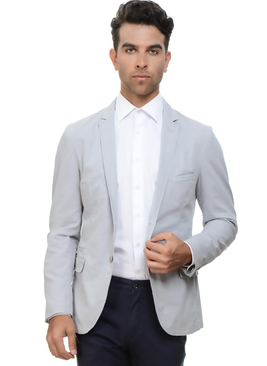 50-6 Gri Network Ceket Erkek Giyim Yelek