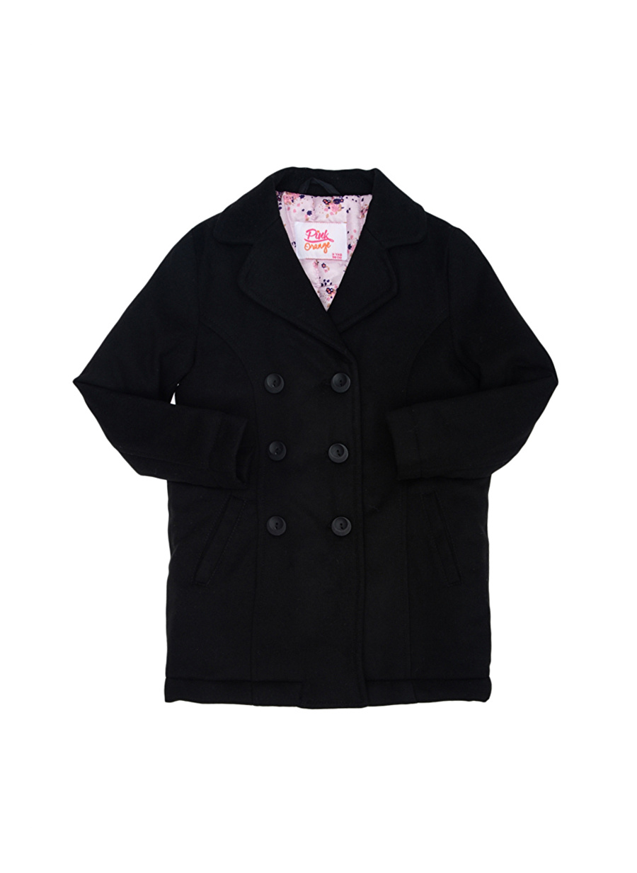 10 Yaş Kadın Siyah Pinkamp;Orange Pink&Orange Çocuk Kaban Dış Giyim