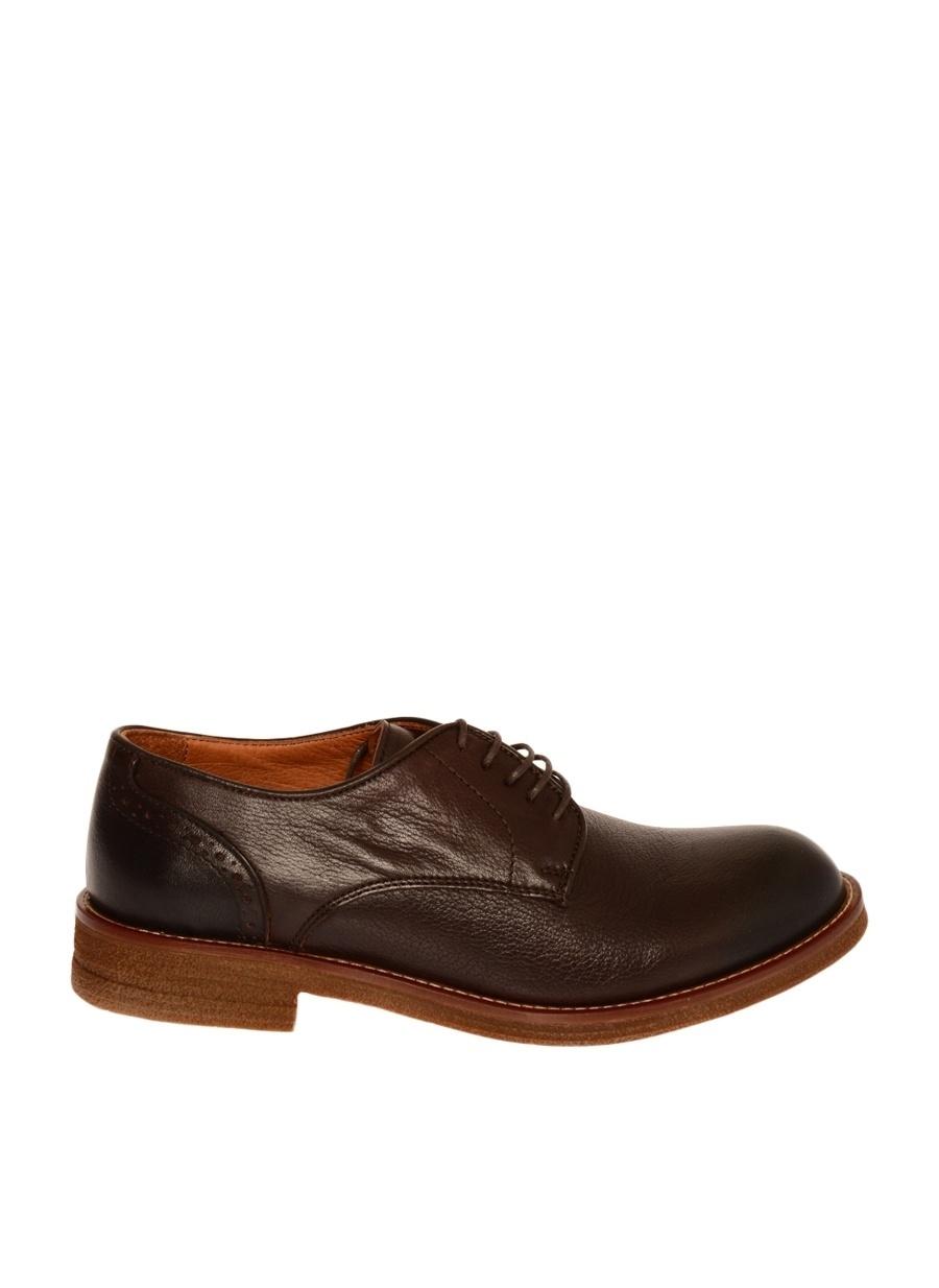 44 Koyu Kahve Hush Puppies Deri Kahverengi Klasik Ayakkabı Çanta Erkek