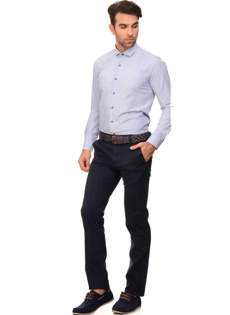 30-34 Koyu Lacivert Loft Klasik Pantolon Erkek Giyim