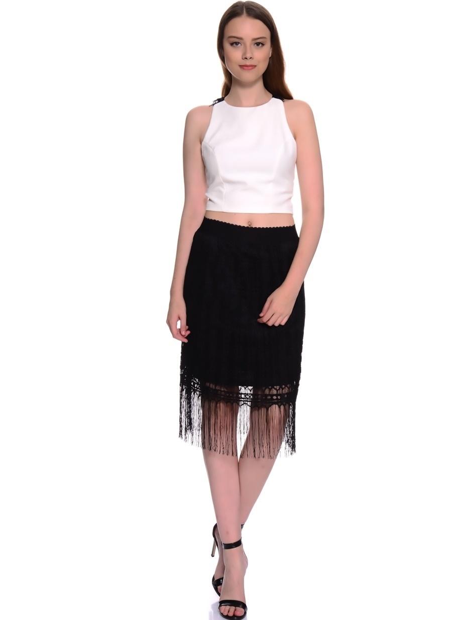 38 Siyah Twist Etek Kadın Giyim
