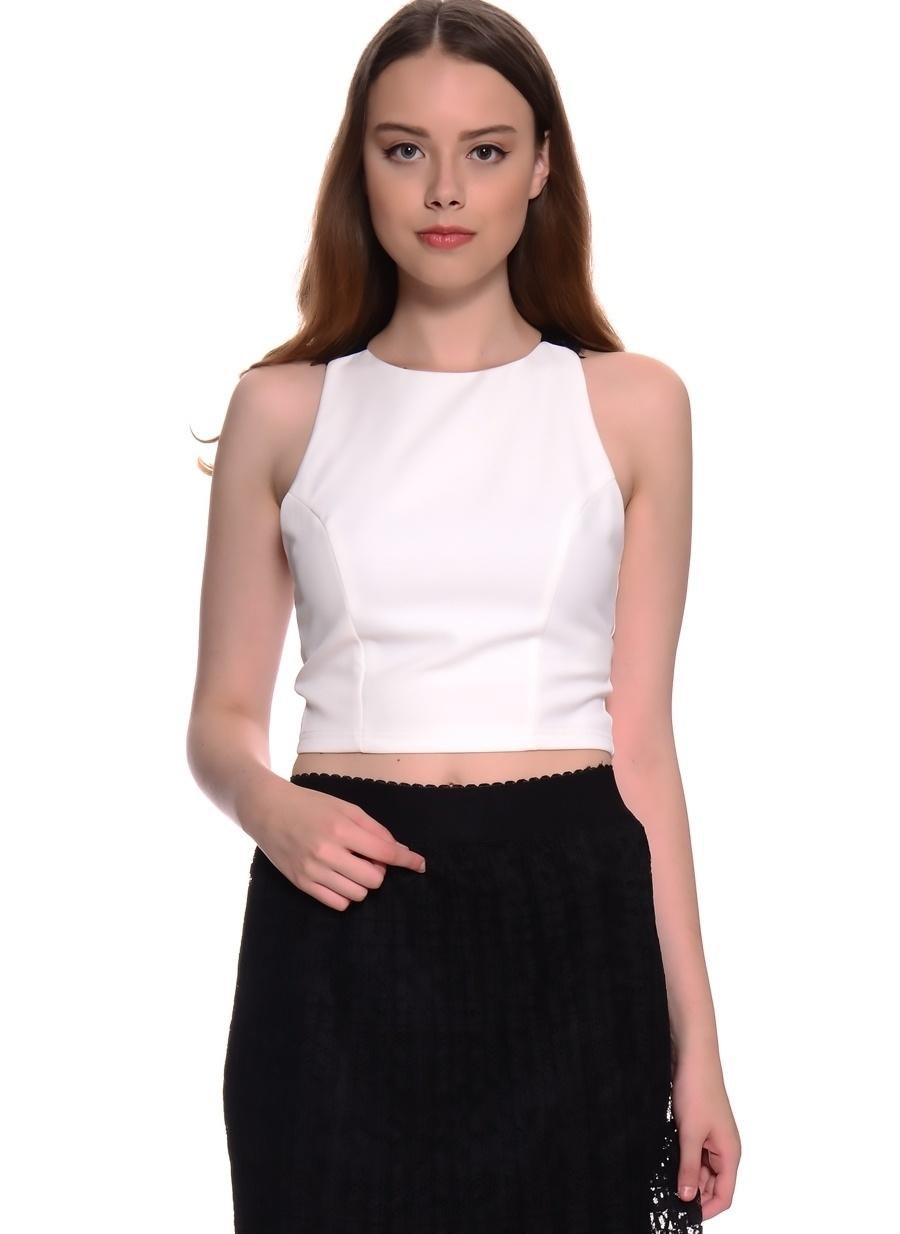 40 Bej Twist Bluz Kadın Giyim Gömlek
