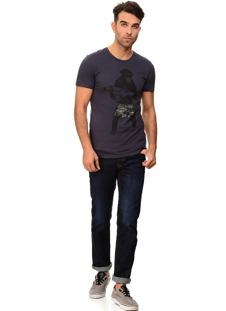 30-32 Mavi Blend Klasik Pantolon Erkek Giyim