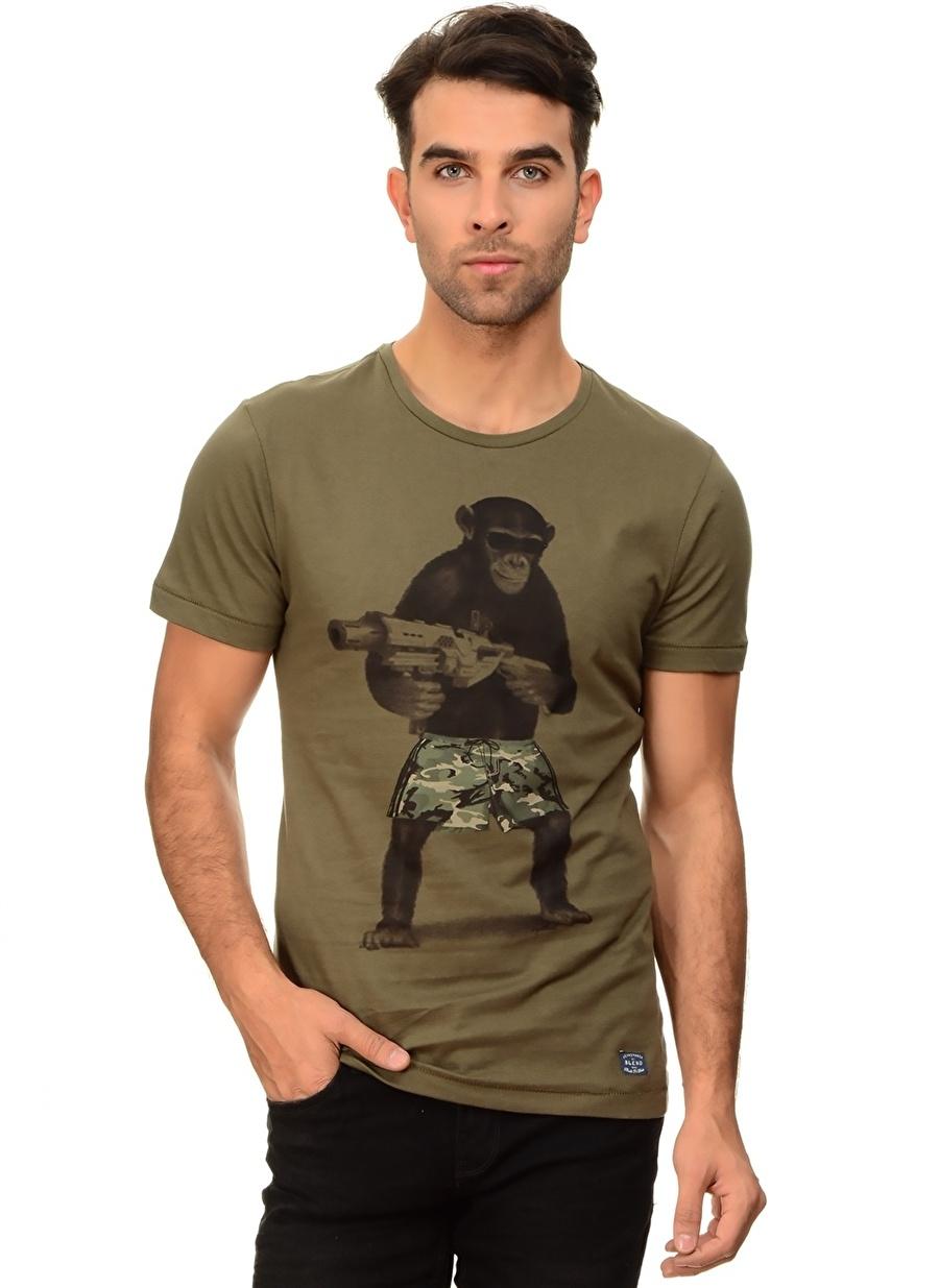 XL Yeşil Blend T-Shirt Spor Erkek Giyim T-shirt