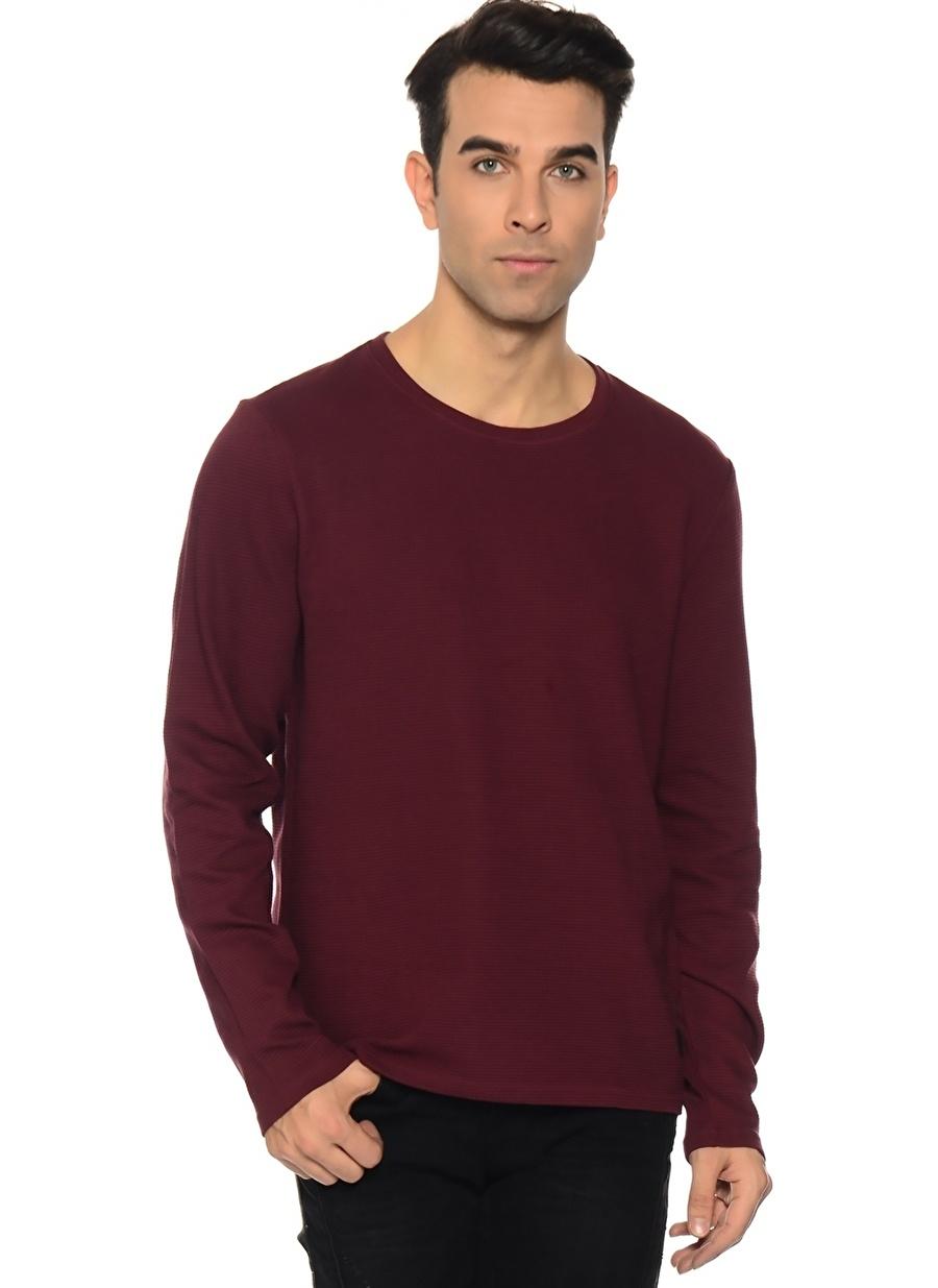 M Kırmızı Casual Friday Sweatshirt Spor Erkek Giyim