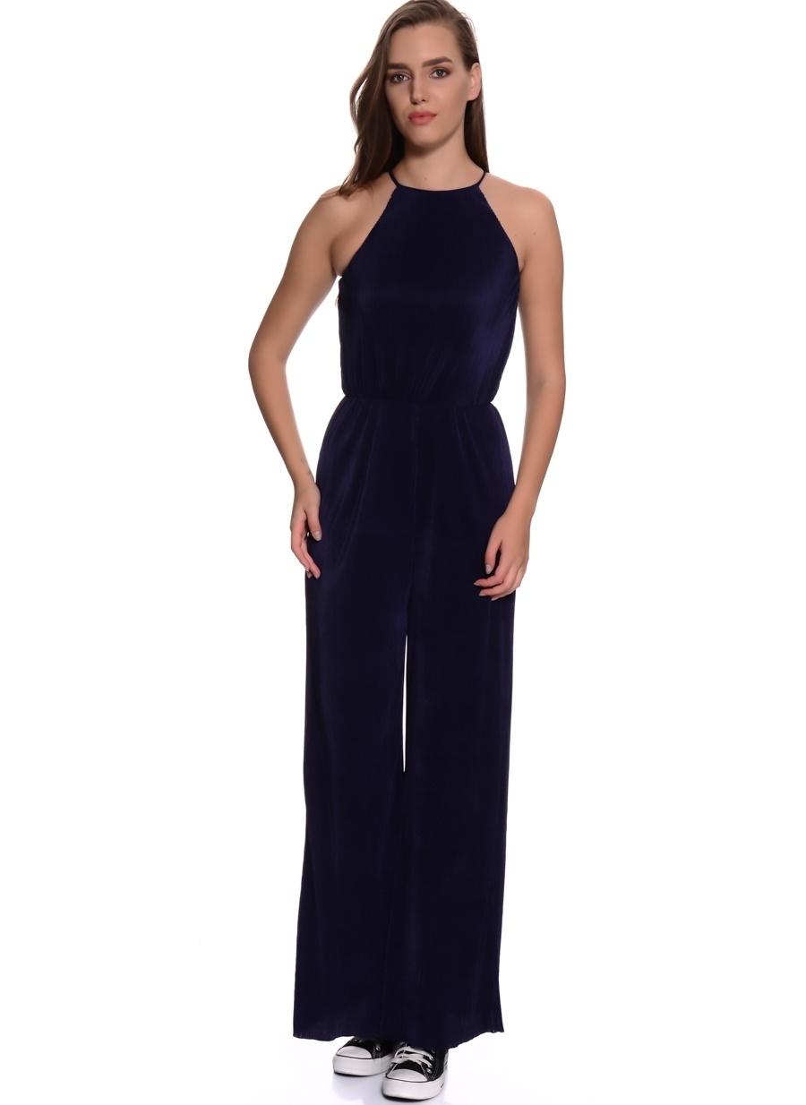 38 Koyu Lacivert Twist Tulum Kadın Giyim