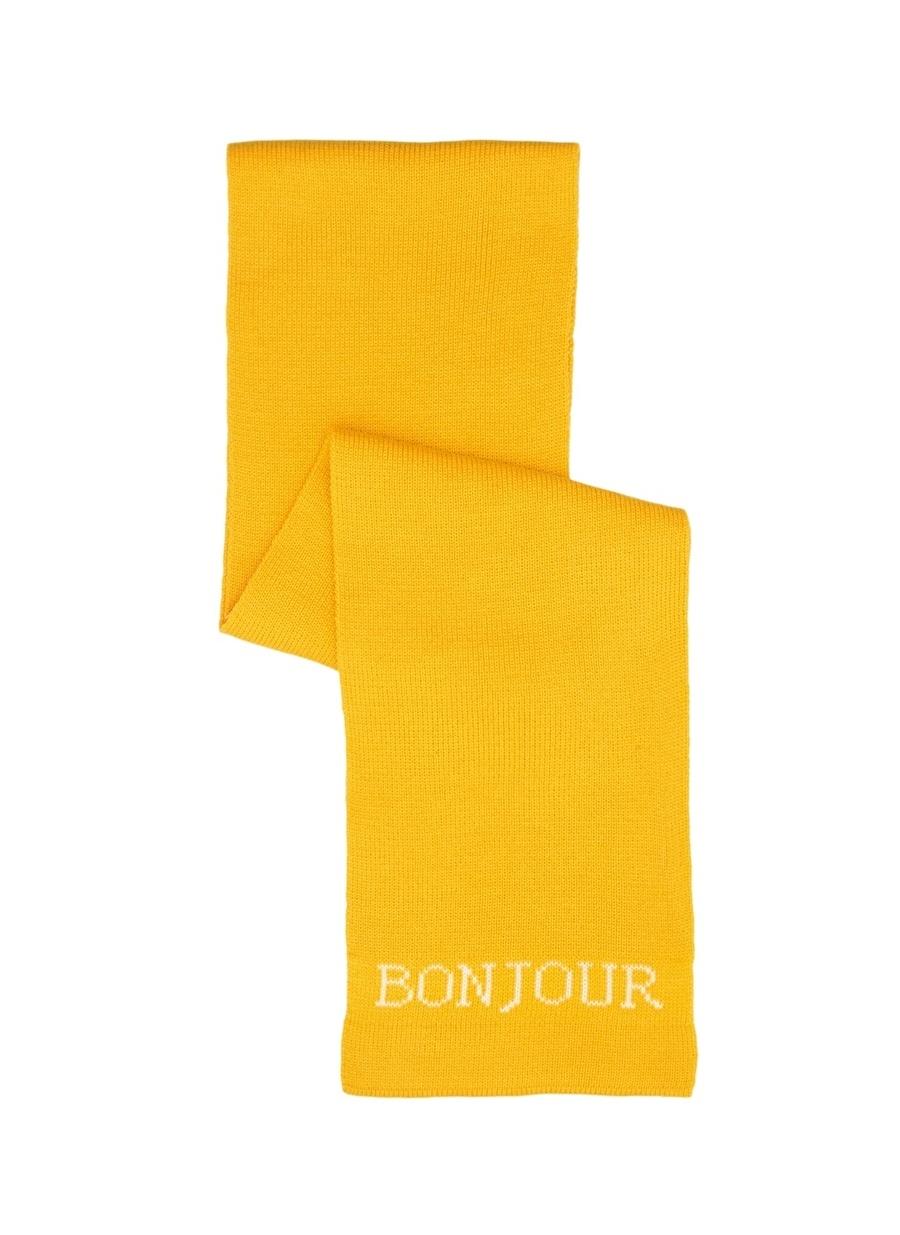 Standart Sarı Limon Atkı Kadın Aksesuar Bere Eldiven