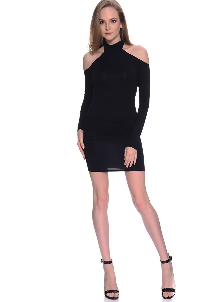 38 Siyah Missguided Elbise Kadın Giyim