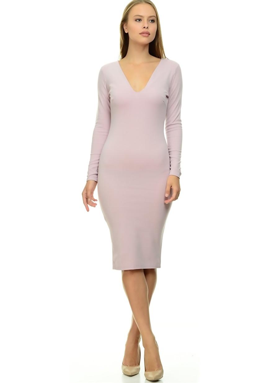42 Lila Missguided Elbise Kadın Giyim