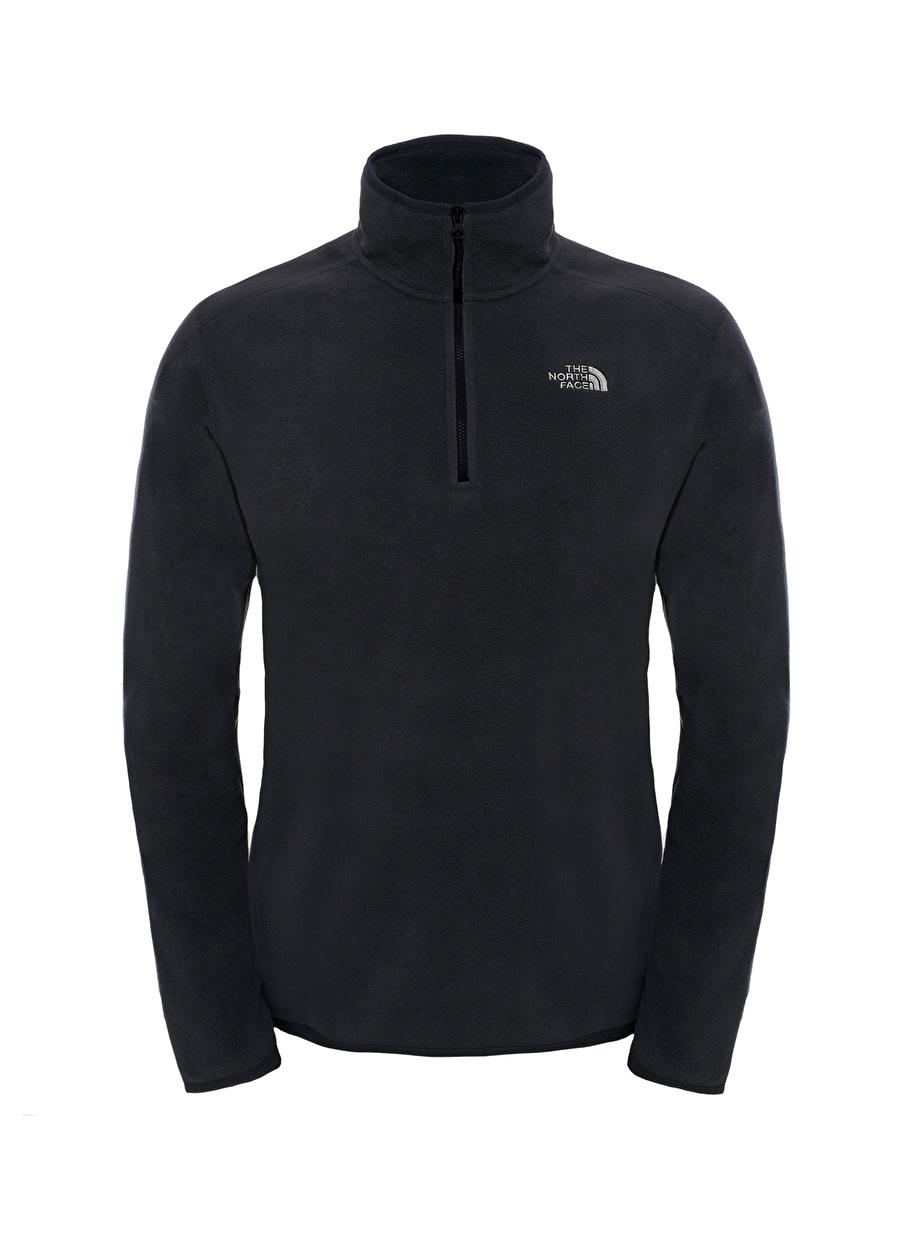 L Erkek Siyah The North Face T92UARJK3 Polar Sweatshırt Spor Outdoor Ürünler