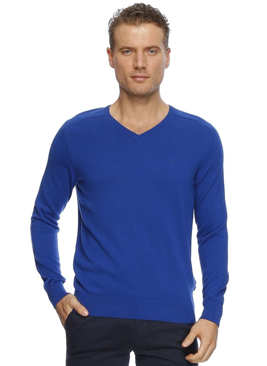 S Mavi Nautica True Blue Kazak Erkek Giyim Hırka