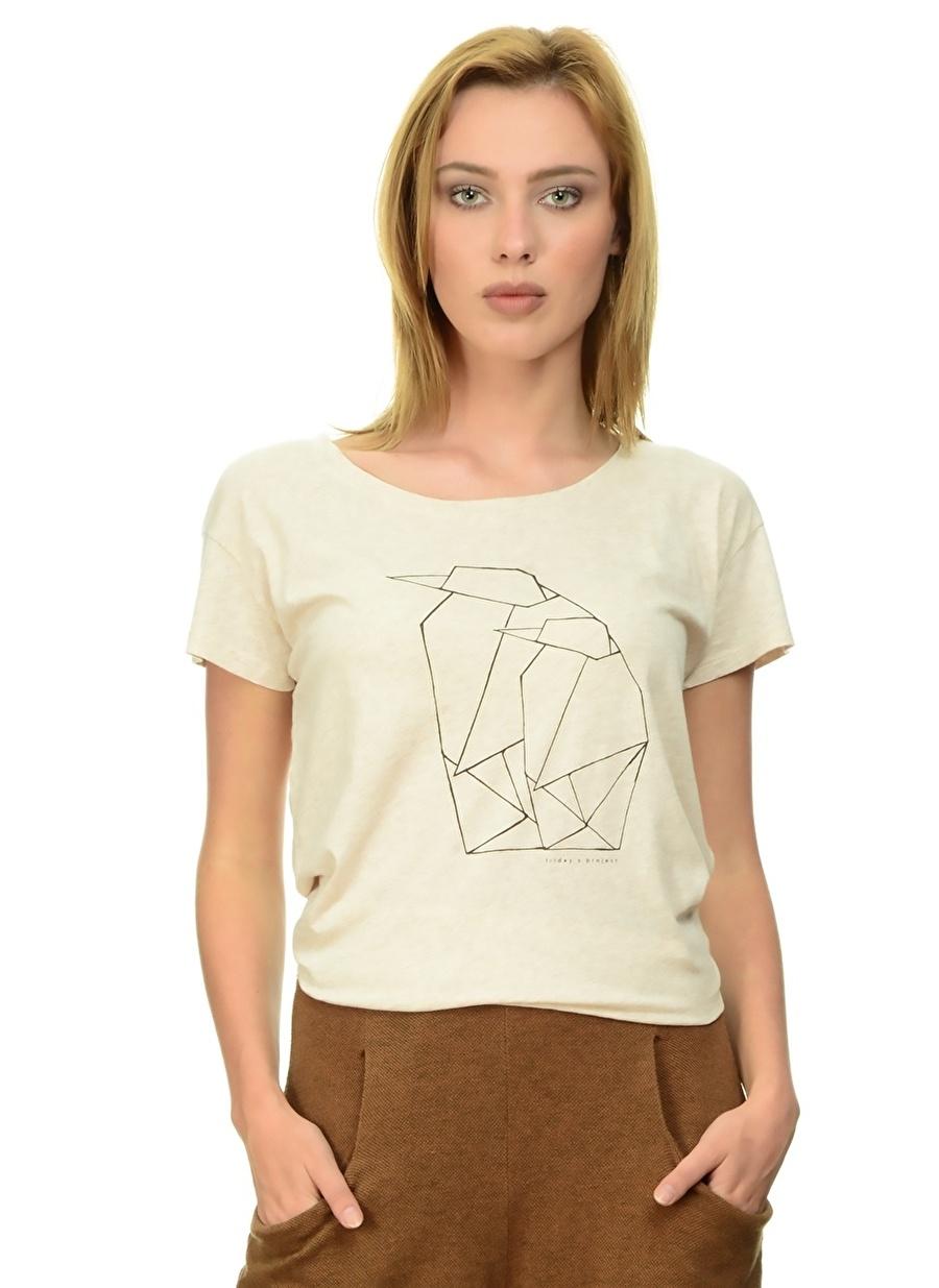 XS Koyu Ekru Fridays Project T-Shirt Kadın Giyim T-shirt Atlet