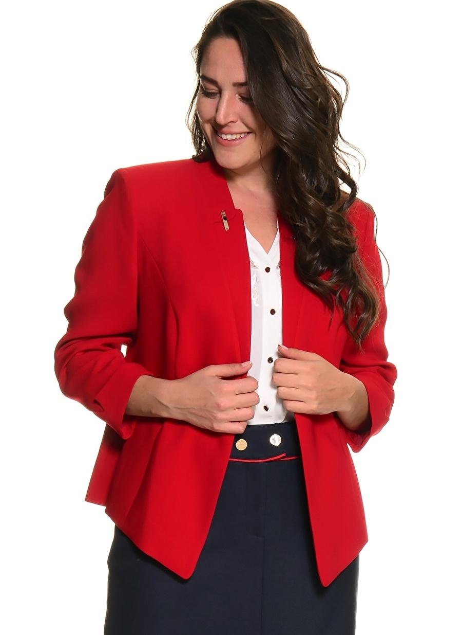 3 Kırmızı Ekol Bb Ceket Kadın Giyim Yelek
