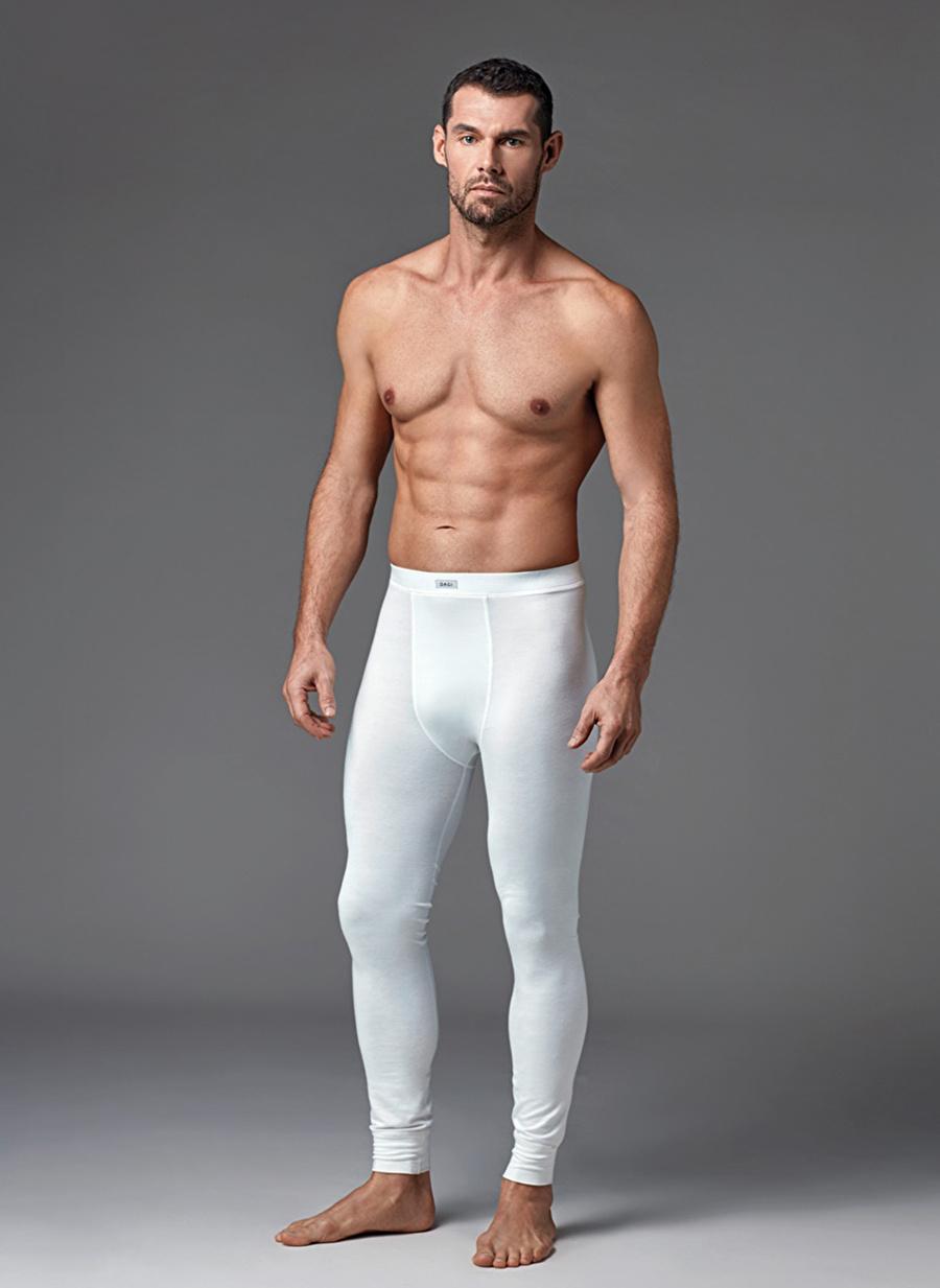 S Koyu Ekru Dagi Termal Klasik Pantolon Erkek Pijama Ev Giyim İçlik